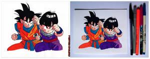 Goku e Gohan by FantasminhaCamarada