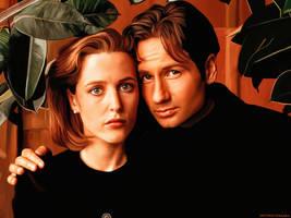 Scully e Mulder by FantasminhaCamarada