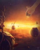 The golden heavens by KostyaNero9