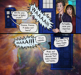 Doctor Who crossover, panel 1 by BeetheGatekeeper