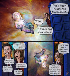 Doctor Who crossover, panel 2 by BeetheGatekeeper