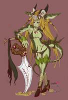 half dragon girl by pooki-chan