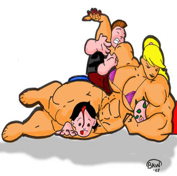 wrestling fun by bri159