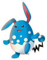 Pokemon - Azumarill by RandomSilentNinja