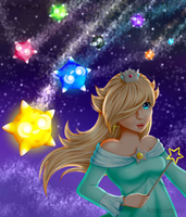 Princess Rosalina and Minior by RandomSilentNinja