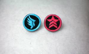 Mass Effect Earrings by OhThePlushabilities