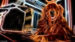 Neon Golden Retriever by destructiveburn