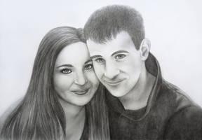 Couple portrait by Lylenn