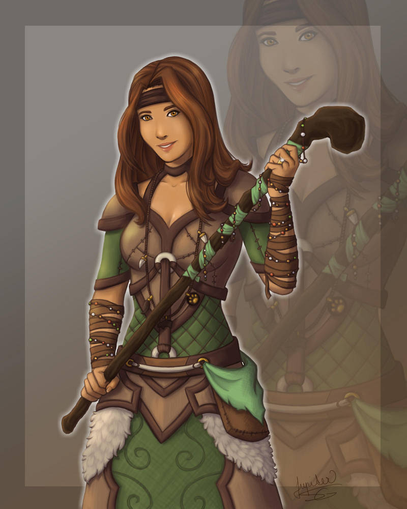 Commision #2 Gilnean druid by Lylenn