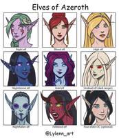 Elves of Azeroth by Lylenn