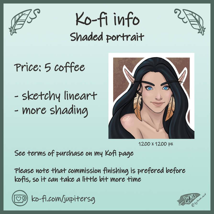 Kofi info by Lylenn