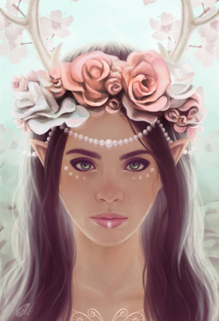 Elven crowns - roses by Lylenn