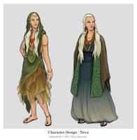 Character design - Neva by ElsaKroese