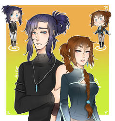 [DGM] Kanda siblings by Ekkodahl