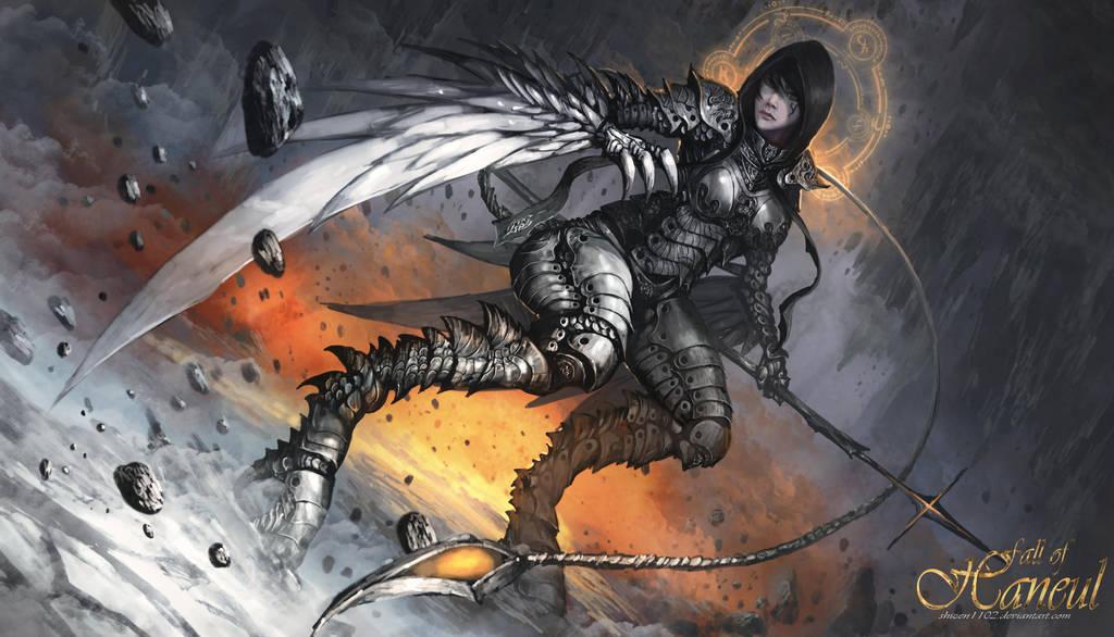 Zoe - The Fallen Knight by shizen1102