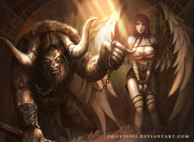 CM: The Minotaur and The Pet [censored] by shizen1102