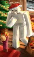 A Minecraft Christmas by ellielza