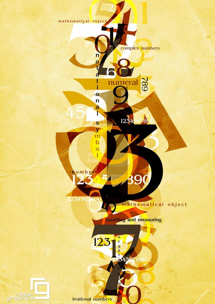 numbers by razangraphics