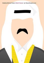 Celebrity Minimal Poster: Shiekh Hamad - by: Razan by razangraphics