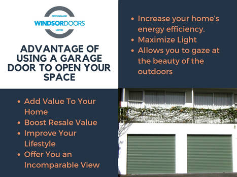 Advantages OF USING A GARAGE DOOR TO OPEN YOUR SPA by windsordoors