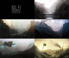 Sci Fi Landscapes by TomEdwardsConcepts