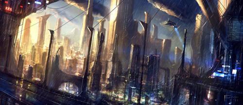 Sci-Fi City by TomEdwardsConcepts