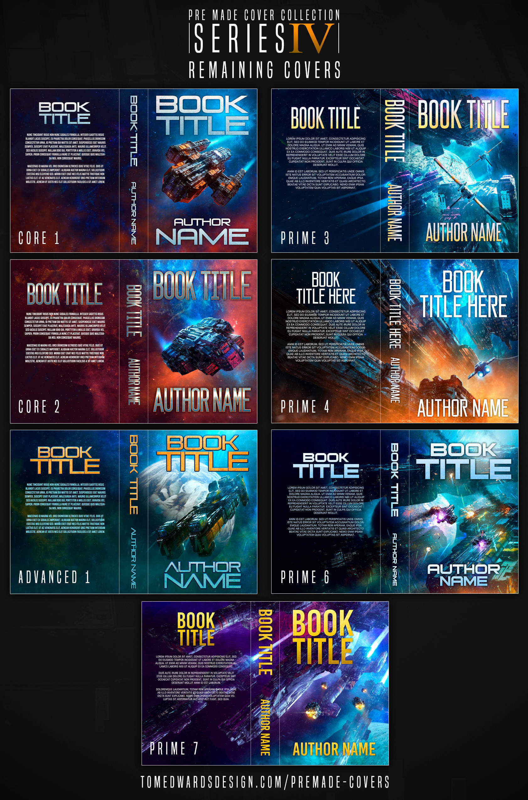 Premade covers - covers left from series IV! by TomEdwardsConcepts