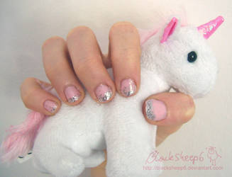 Furiously princessy nails by BlackSheep6