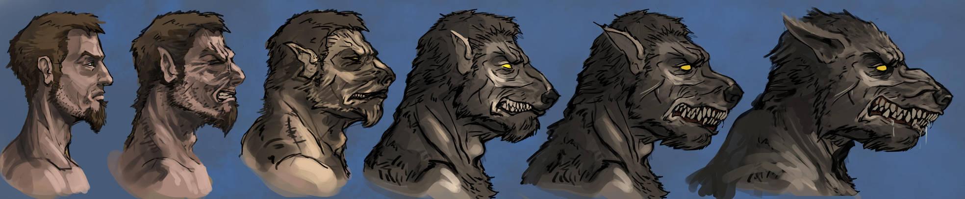 Werewolf Transformation (Commission) by Armorwing -- Fur