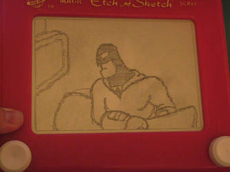 Etch A Sketch: Space Ghost by HoshiKan