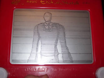 Etch A Sketch: Slender Man by HoshiKan