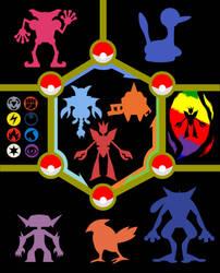 My Pokemon Team illustration by HoshiKan