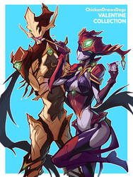 WARFRAME - A Spot of Sunshine and A Nekros' Smile by ChickenDrawsDogs