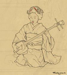 Maiko in Progress by Fayea