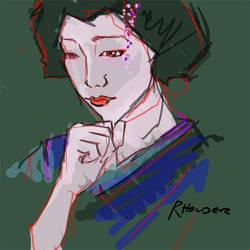 Sad Geisha by Fayea