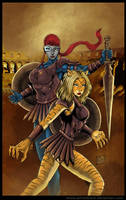 Commission:Rowr and Valkarye 2 by johnbecaro