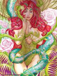 Poison Ivy acrylic by johnbecaro