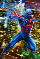 Spiderman 2099 by johnbecaro