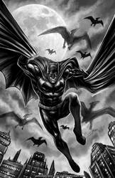 Batman X Pteros by johnbecaro