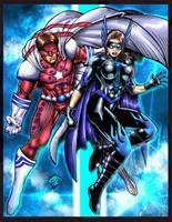 Colored: Quake and Dark Angel by johnbecaro