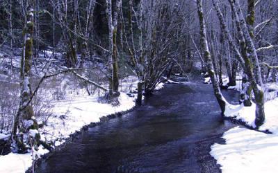 Winter Stream by CeriseReve