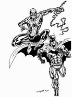SPIDEY AND BATMAN FOR LOGIE by FanBoy67