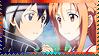Kirito and Asuna - Sword Art Online - Stamp by Mayu-Hikaru