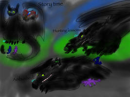 FANART-HTTYD: Daddy Toothless sketches by BlackDragon-Studios