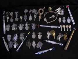 Sonic Screwdrivers and TARDIS Keys by Police-Box-Traveler
