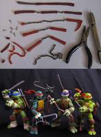 TMNT 2012 Custom Weapons Upgrade by Police-Box-Traveler