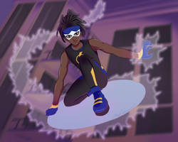 Superhero Static Shock! by maidacervania