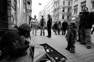 Musician, protestor and child by ozZeMBeReK