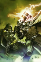 Gamora vs Ronan by Aspersio