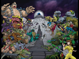 TMNT 30th Anniversary Cover by dovianax